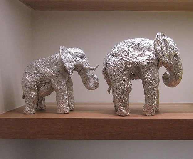 Expressive Animals Sculpted From Aluminum Foil
