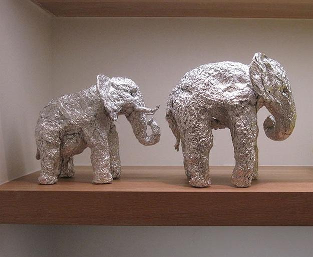 Expressive Animals Sculpted From Aluminum Foil