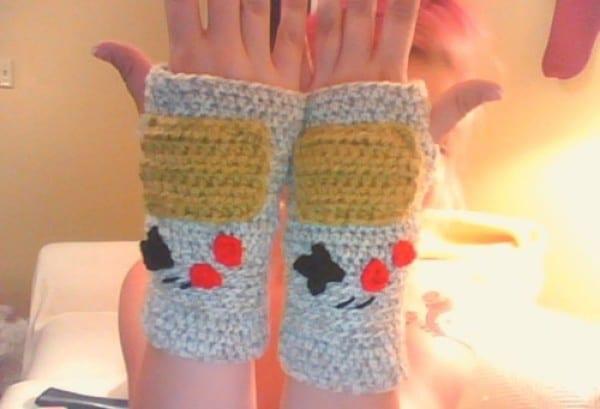Handmade Nintendo Knitted Gloves