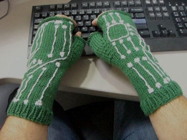 Knitted Motherboard Winter Gloves