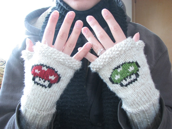 Super Mario Knitted Gloves