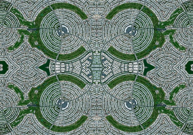 Oriental Rugs Created From Google Earth Images