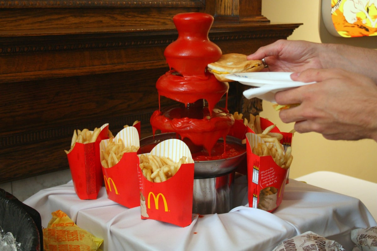 Behold A Ketchup Fountain: A French Fry Lover's Dream
