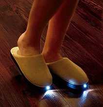 LED Slippers Will Prevent Head Bumps When Sleepwalking