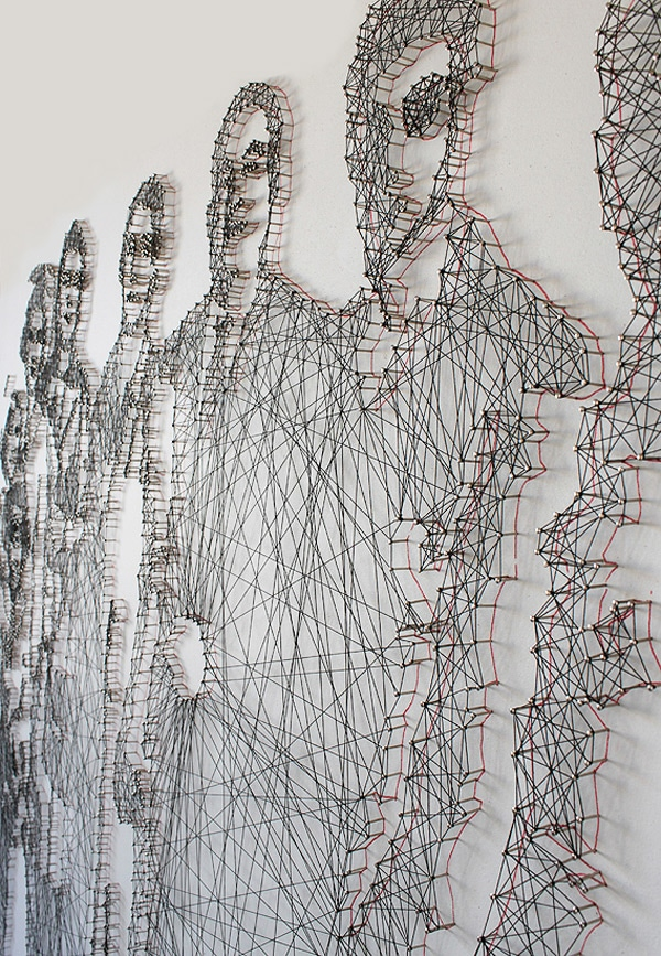 Needle And Thread Portrait Artwork