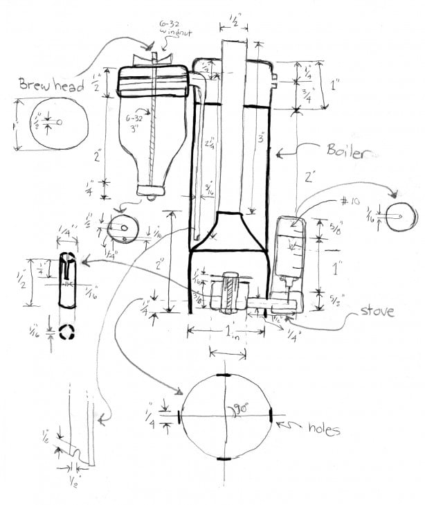 Pocket Sized Espresso Machine Blueprints