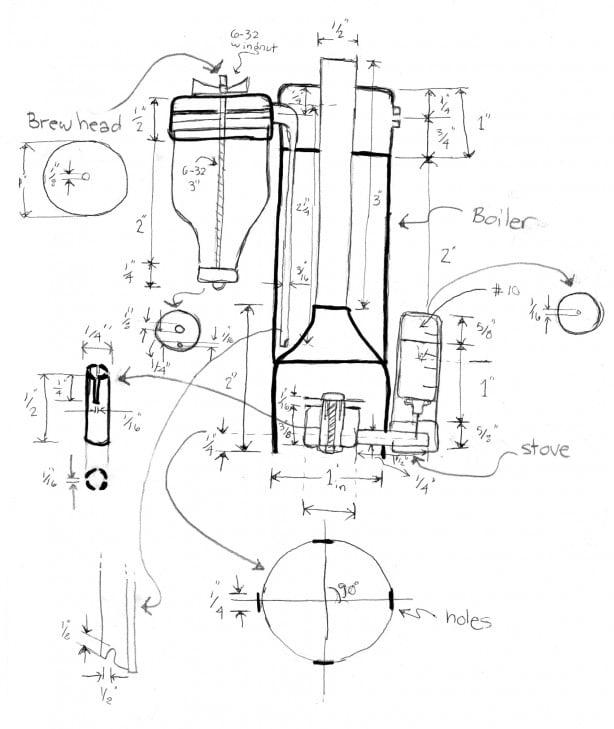 Pocket Sized Espresso Machine Blueprints