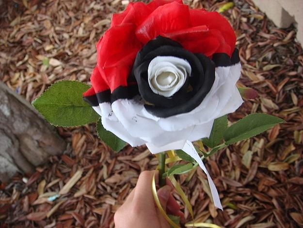 Gamer Girl Romantic Flower