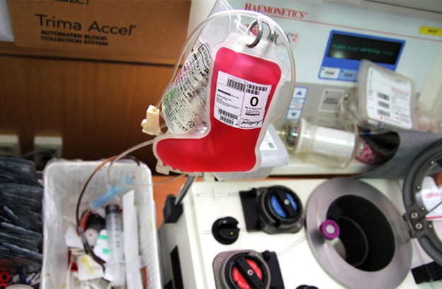 Holiday Stocking Hospital Blood Packs