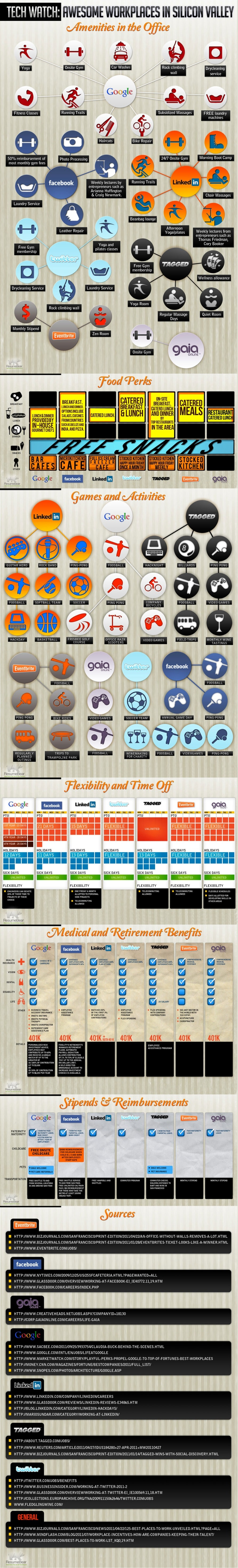 Social Networking Company Perks Infographic