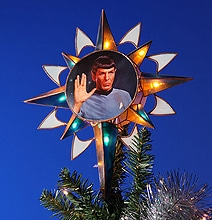 For A Trekkie Holiday: A Spock Christmas Tree Topper