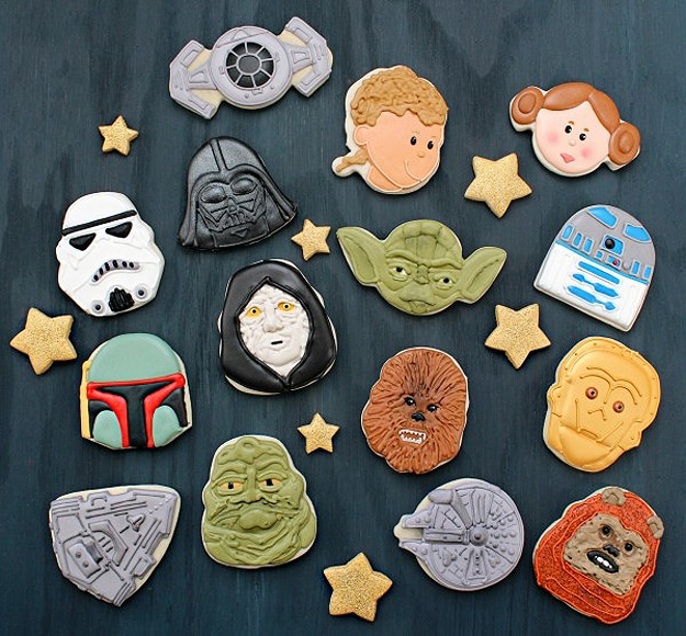 Creative Star Wars Cookies Made With Santa Claus Cookie Cutters