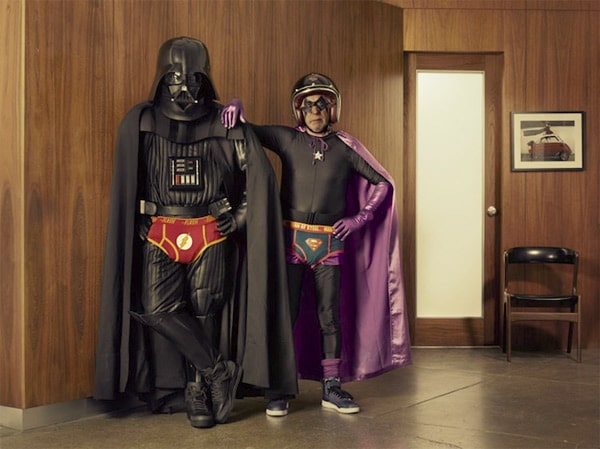 Grandparents Cosplay: Aged Star Wars Superhero Photography