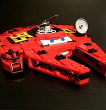 Millennium McQueen: A Bizarrely Interesting Creative Lego Mashup