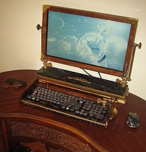 Super Sweet Steampunk Monitor, Keyboard & Mouse Design