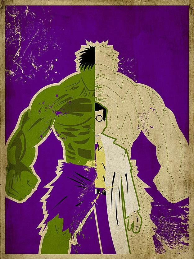 Incredible Hulk Superhero Poster
