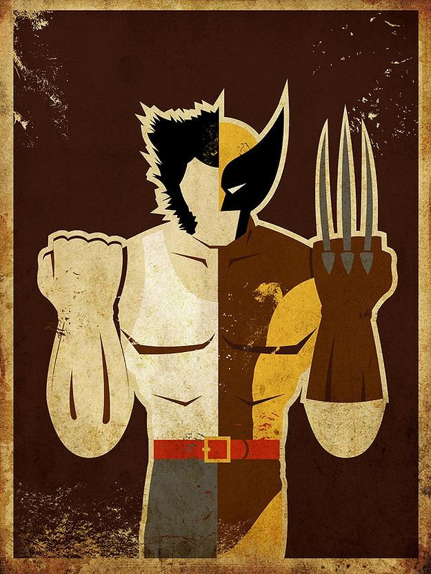 Wolverine Claw Superhero Poster