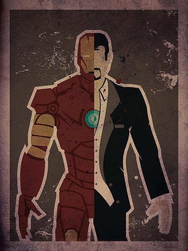 Ironman Artistic Superhero Poster