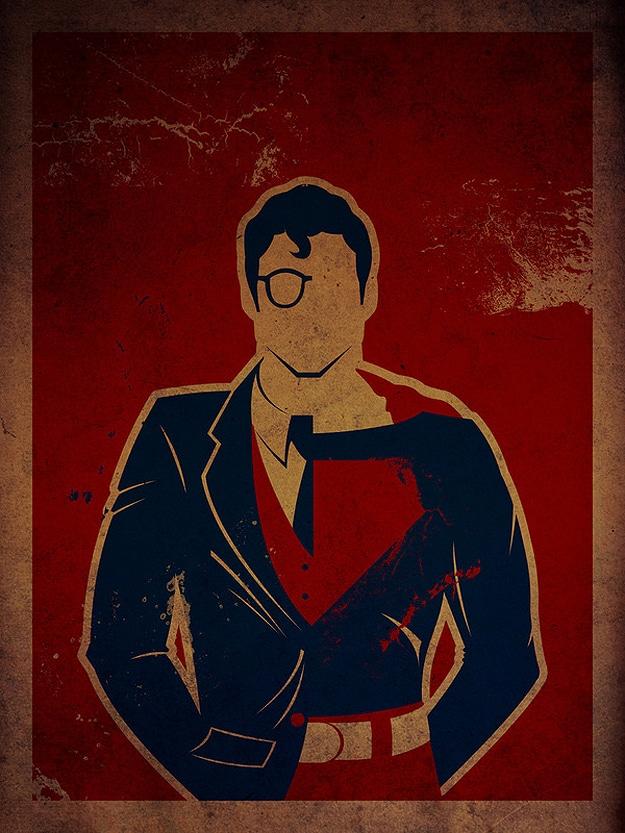 Superman Artistic Superhero Poster