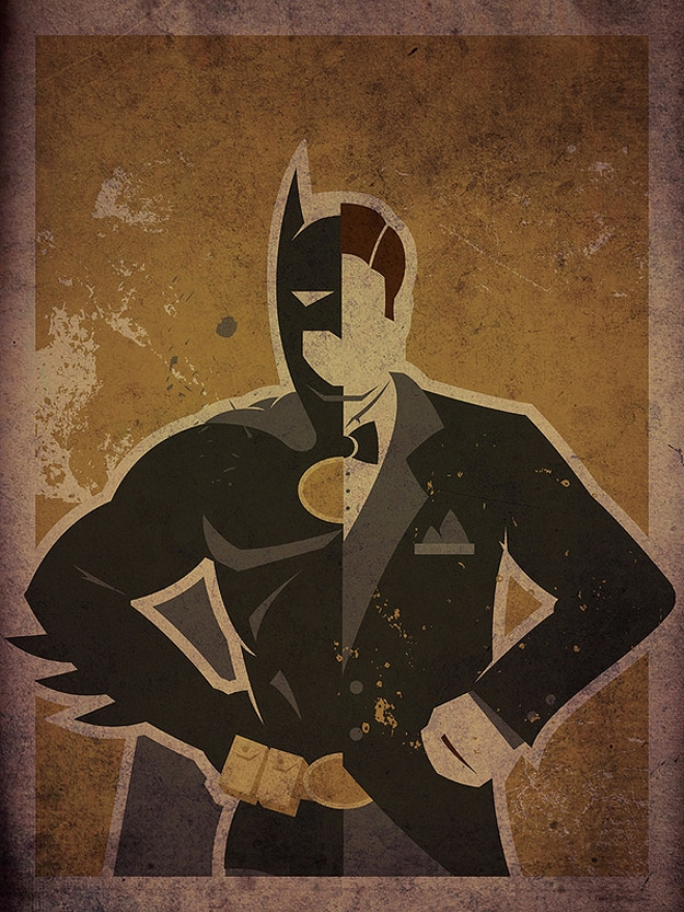 Batman Robin Artistic Superhero Poster