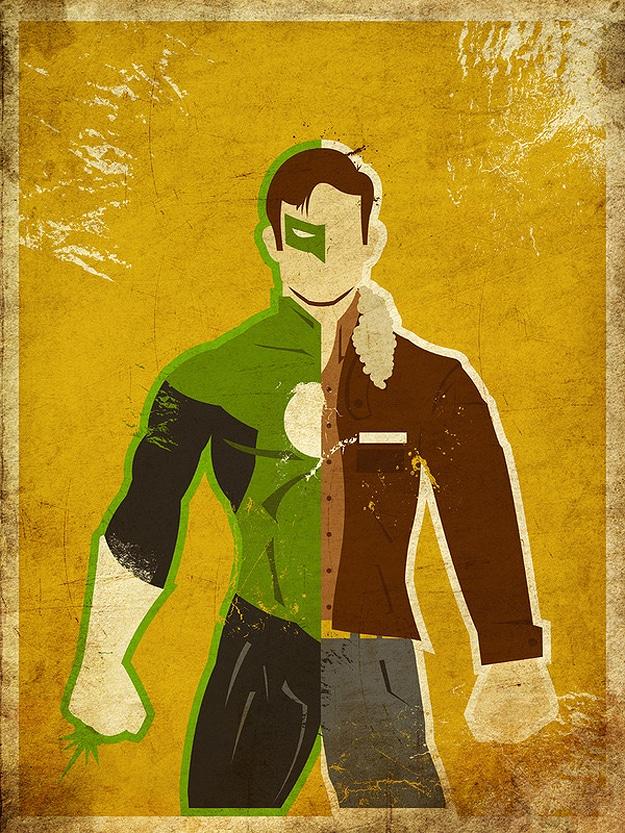 Artistic Illustrations Of Superheroes