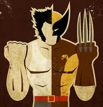 7 Vintage Style Illustrations: Superheroes & Their Alter Egos