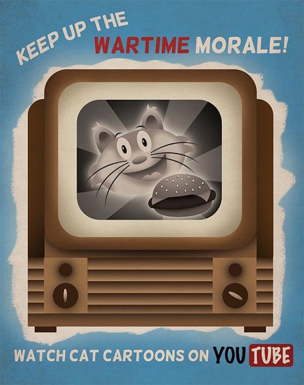Cat Morale Propaganda Drawing