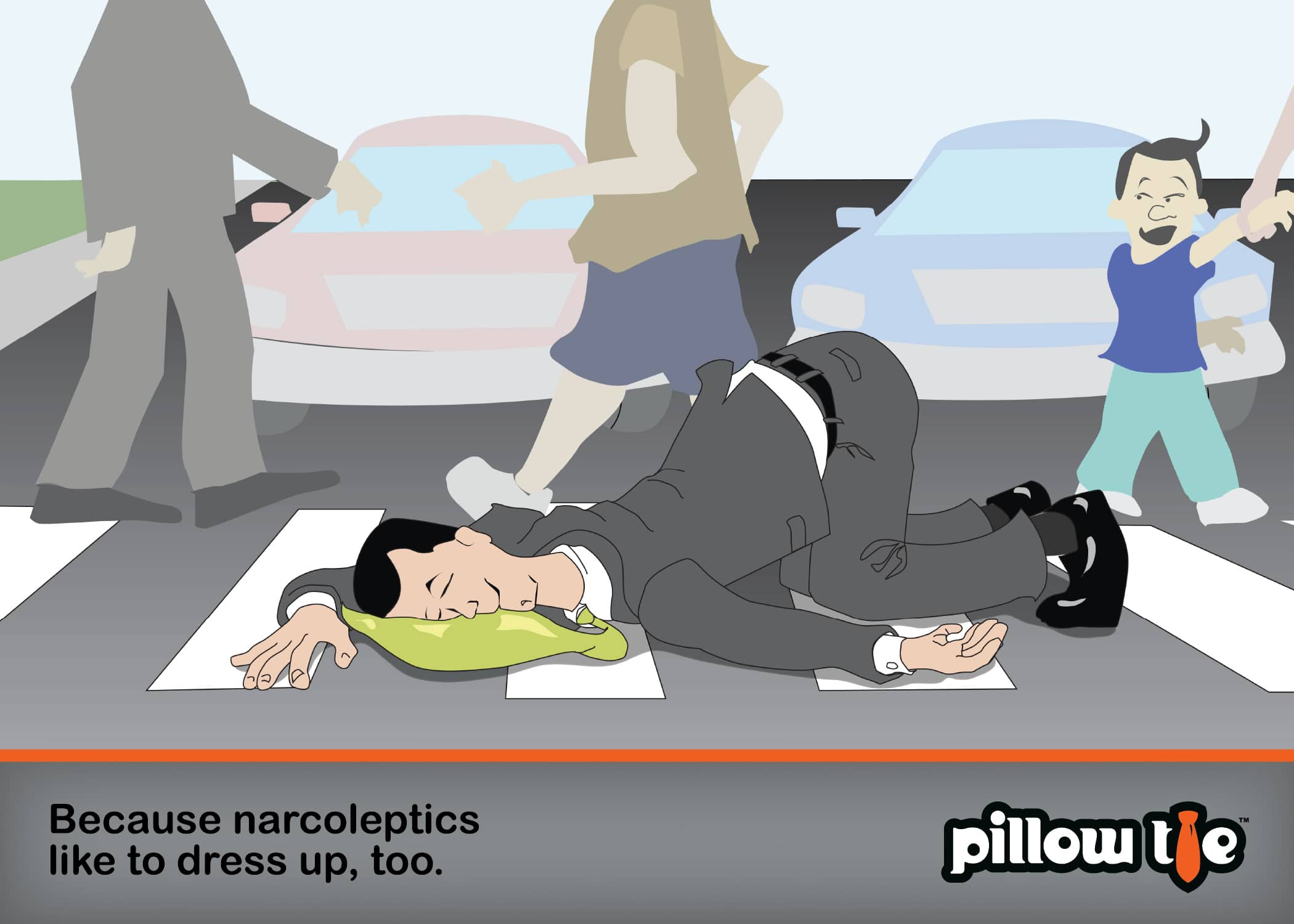 The Inflatable Pillow Tie: Sneak Sleep On The Job