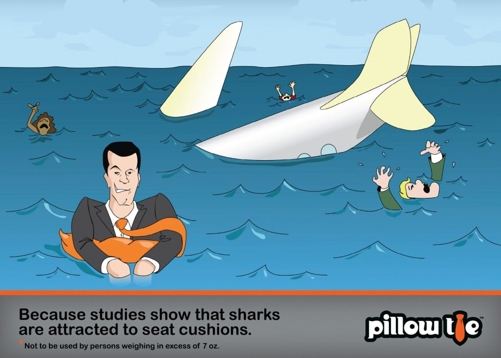 The Inflatable Pillow Tie Concept