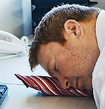 The Inflatable Pillow Tie: Sneak Sleep On The Job