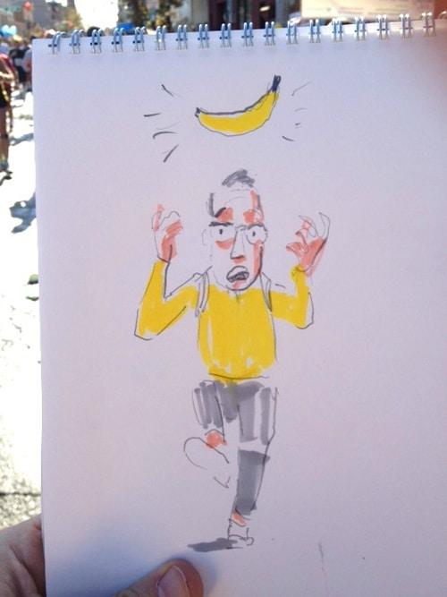 New York Runner Tweets Drawings