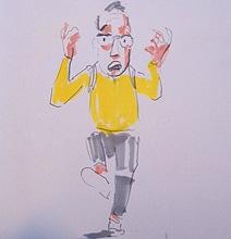 Creative Cartoonist Draws & Live Tweets During NYC Marathon