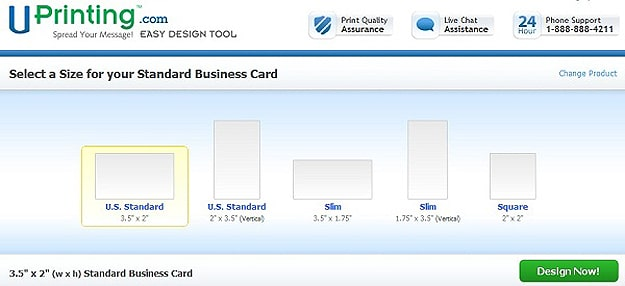 Uprintings Easy Design Tool Create Your Business Cards Like A Pro