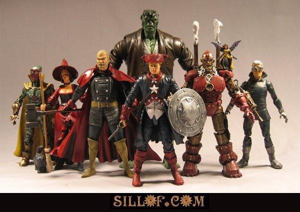 Steampunk Avengers & Justice League Superhero Figurines