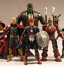 Victorian Steampunk Superhero Action Figurines
