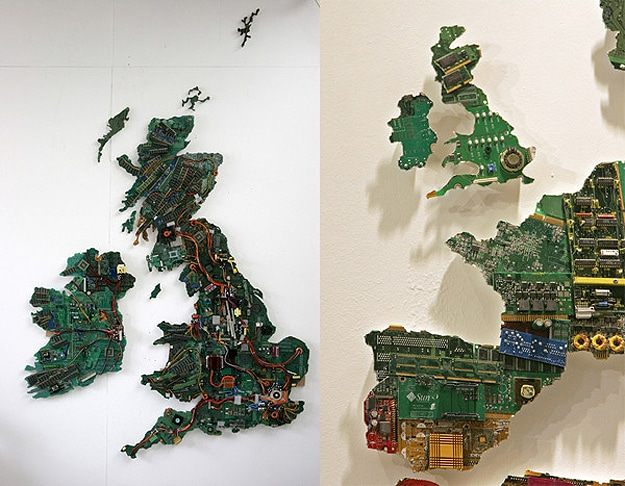 Map Made Recycle Motherboards