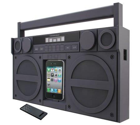iHome iPhone Retro Boombox Dock
