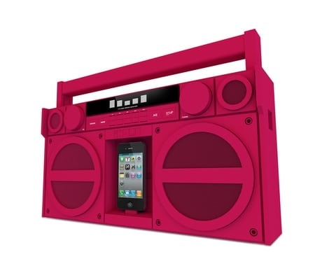 iHome iPhone Retro Boombox Dock