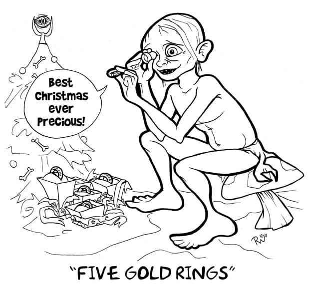 Five Gold Rings Christmas Song