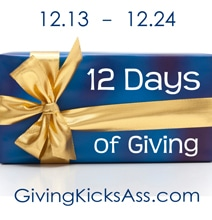 12 Days Of Giving: Because Giving Kicks Ass