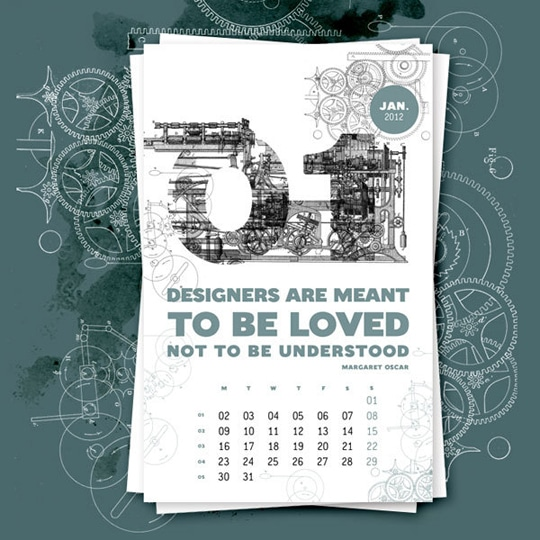 Calendar Inspiration Design : Creative colorful inspiring calendar designs