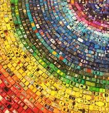Toy Atlas Rainbow: 2,500 Hot Wheels Cars Turned Into Carpet