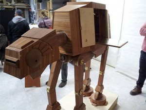 A Hugely Geeky Wooden AT-AT Liquor Cabinet & Epic AT-AT Star Wars Dog Costume | Bit Rebels