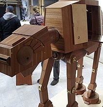 A Hugely Geeky Wooden AT-AT Liquor Cabinet