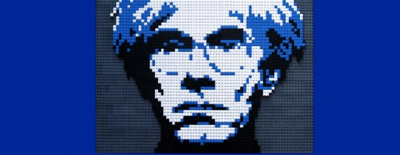 Andy Warhol Recreated In Lego