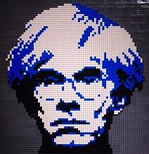 Andy Warhol Pop Art Recreated In Lego
