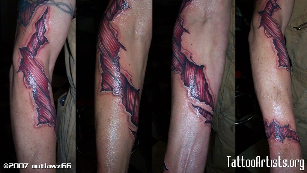 Torn Skin Tattoos