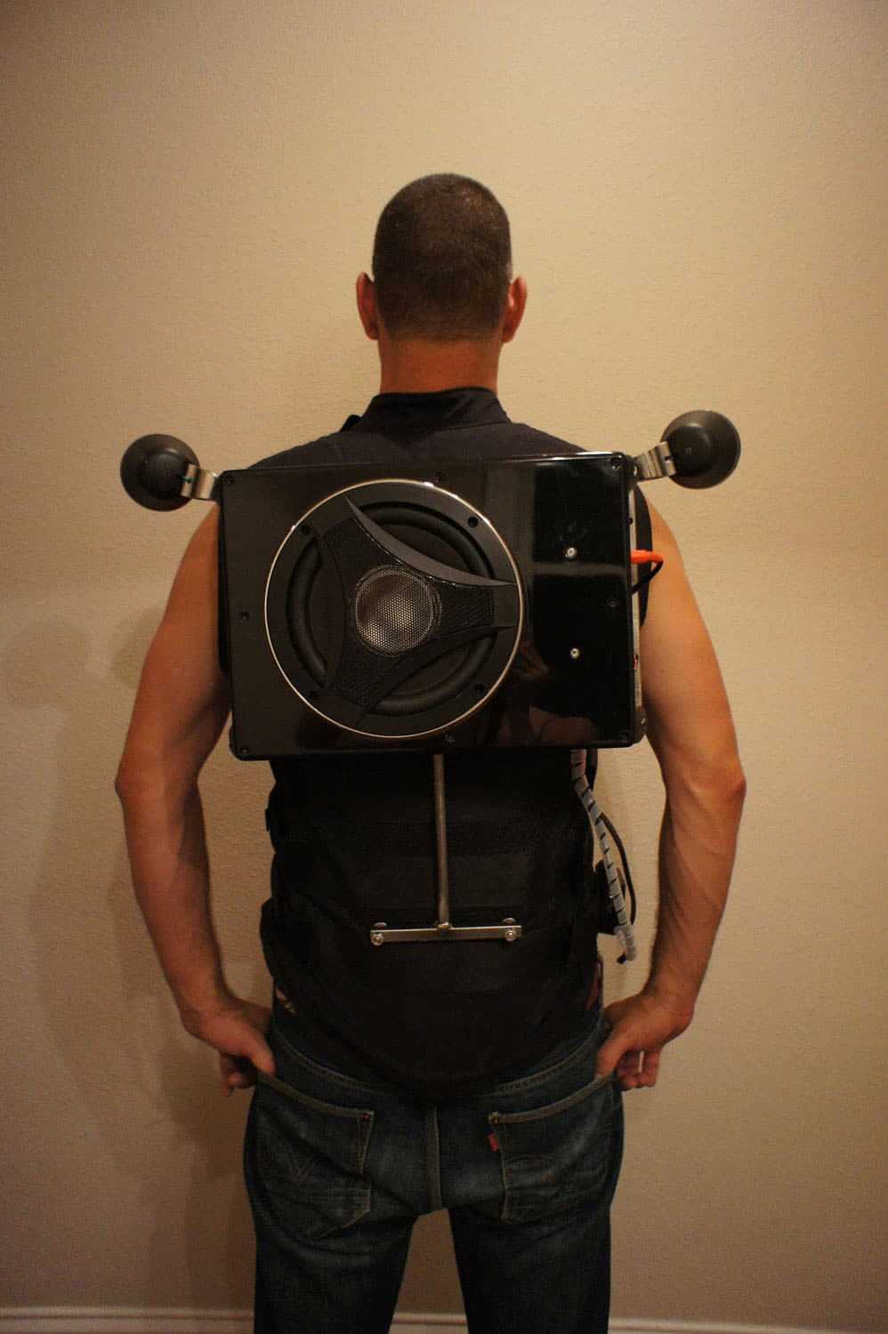 Wearable Boombox Backpack Packs A Divine Punch