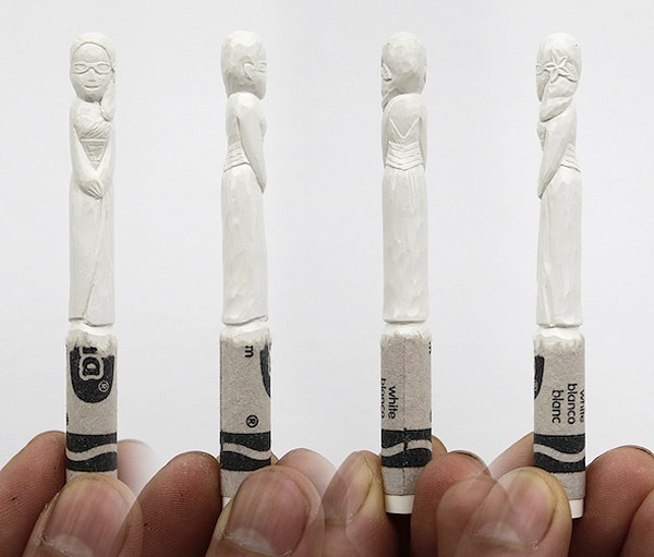 Carved Wedding Party Crayons