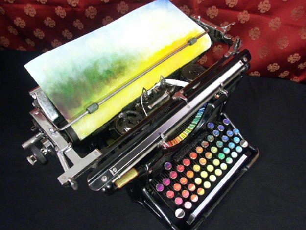 Typewriter Paints With Oils